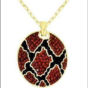 Essential new Crystal Animal Print Pend Necklace